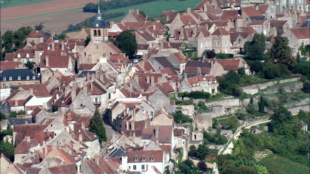 Vezelay  - Aerial View - Bourgogne, Yonne, Arrondissement d'Avallon, France