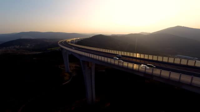 HD HELI: Viaduct At Sunset