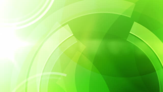 Vibrant Circles Background Loop - Frog Green (Full HD)