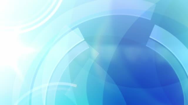 Vivace cerchi sfondo Loop-Blu oceano (Full HD