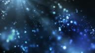 Lebendige Nacht funkelt Schleife-Blau (Full HD