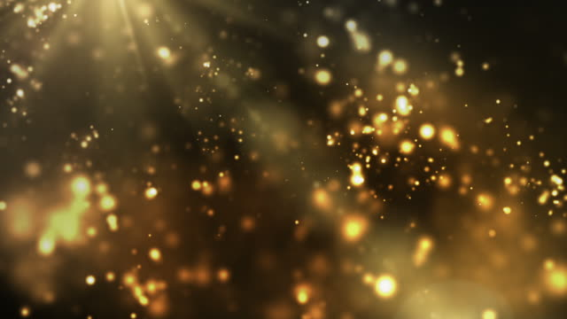 Vibrant Night Sparkles Loop - Golden (Full HD)