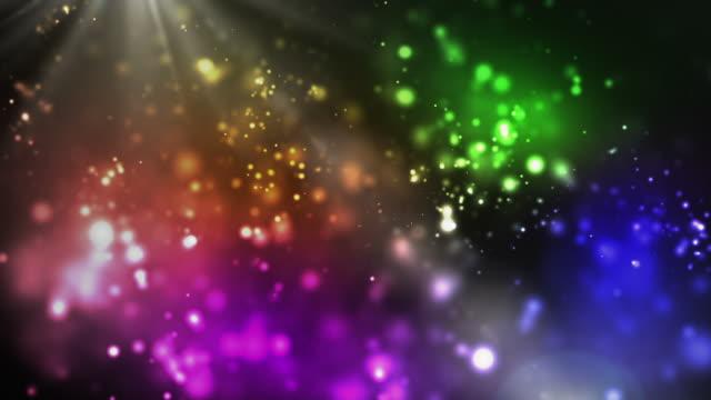 Lebendige Nacht funkelt Schleife Regenbogen-(Full HD