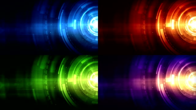 Vibrant Rings Background Loops - Multi Pack X4
