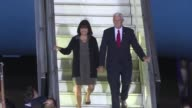 US Vice President Mike Pence arrives on Monday at El Palomar Air Base in Argentina for 24 hour visit on second stop in tour of various Latin American...