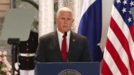 US Vice President Mike Pence hits out at radical Islamic terror after 13 people were killed when a driver deliberately slammed a van into crowds on...