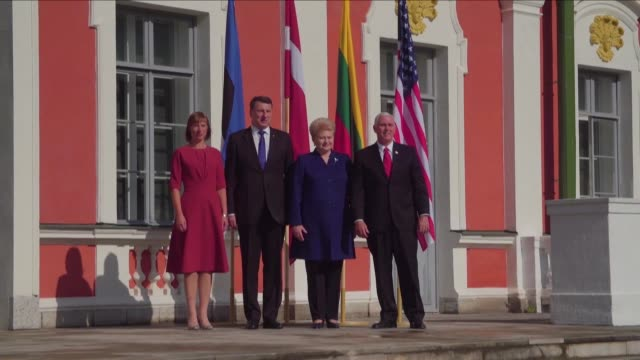 US Vice President Mike Pence met with the heads of the Baltic States in Tallinn on Monday morning to reassure America's allies about its commitment...