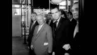 / Vice President Richard Nixon and Soviet chief Nikita Khrushchev at the United States Fair in Moscow / Nixon and Khrushchev debate standing next to...