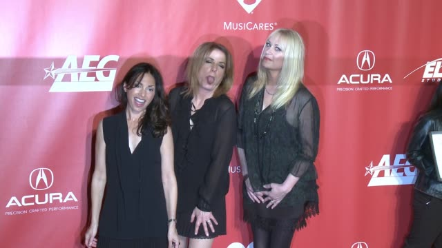 Vicki Peterson Susanna Hoffs Debbi Peterson at MusiCares Person of the Year Honoring Tom Petty in Los Angeles CA