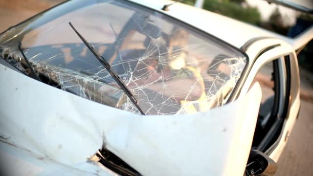Victim in a car crash unconscious
