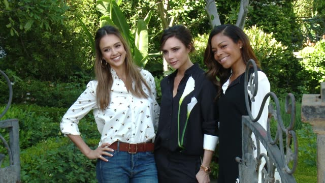 Victoria Beckham Jessica Alba and Naomie Harris at the Victoria Beckham For Target Launch Event on April 1 2017 in Los Angeles California