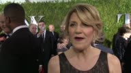 INTERVIEW Victoria Clark on celebrating the season and community at 2015 Tony Awards Arrivals at Radio City Music Hall on June 07 2015 in New York...