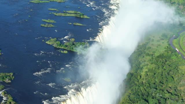 Victoria falls. Flygfoto.