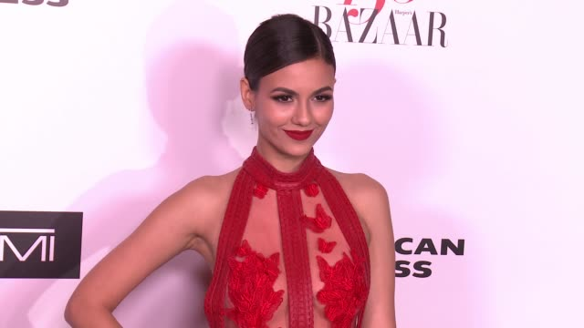 Victoria Justice at the Harper's BAZAAR Celebrates 150 Most Fashionable Women at Sunset Tower on January 27 2017 in West Hollywood California