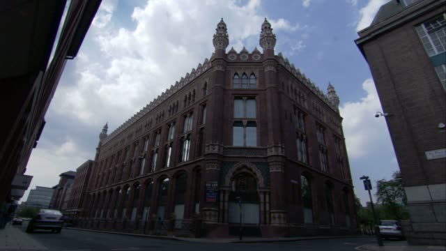 A Victorian building occupies a corner location in Leeds. Available in HD.