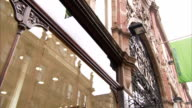 Victorian buildings and shop fronts on King Edward Street, Leeds. Available in HD.