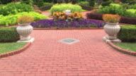 WS TU Victorian garden at Missouri botanical garden / St Louis, Missouri, USA