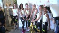 Victoria's Secret Angels Jac Jagaciak Lais Ribeiro Martha Hunt Jasmine Tookes Elsa Hosk and Romee Strijd at Victoria's Secret Angels' Cycle For...