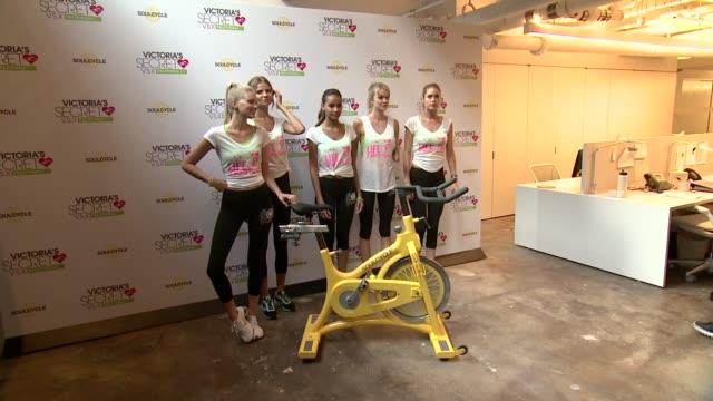 Victoria's Secret model Elsa Hosk Alessandra Ambrosio Magdalena Frackowiak Gracie Carvalho Lindsay Ellingson Doutzen Kroes and Lily Aldridge at...