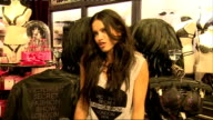 Victoria's Secret Show Preview interviews and shop general views Adriana Lima having hair prepared by stylist / Adriana Lima interview SOT / General...