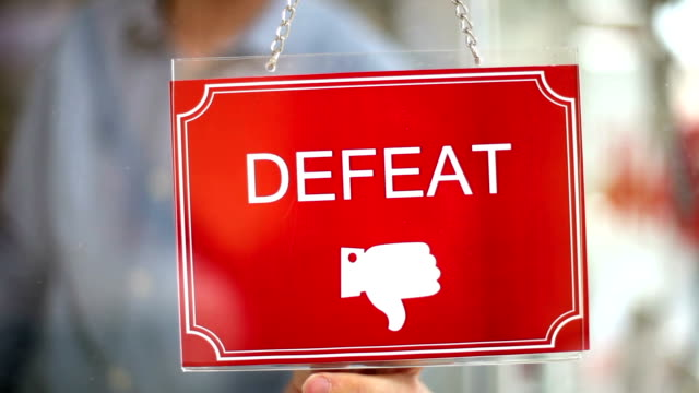 Victory - Defeat Sign