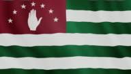 4-K Video : Abkhazia waving flag