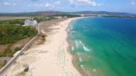 4K Video Luftaufnahme des Strandes