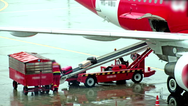 4K video Cargo loading to plane,air freight logistic