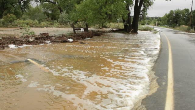 video in HD del carbone Creek road inondazioni Boulder, Colorado