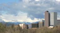 HD video Denver Colorado rain storm time lapse