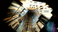 video footage of a elevator shaft