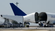 Video footage taken at Chubu Airport in Aichi Prefecture April 4Japan shows Boeing Co's B747LCF known as the Dream Lifter taking off on a delivery...