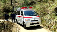 Video footage taken at Mount Takao in Hachioji western Tokyo shows a compact ambulance specially designed to reach ill or injured climbers at the...