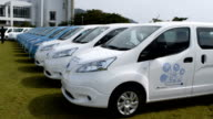 Video footage taken on April 12 Japan on the island of Kamikoshikishima part of Satsumasendai Kagoshima Prefecture shows a fleet of 40 electric...