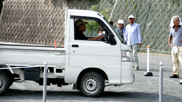 """Video footage taken on Aug 29 in Tahara Aichi Prefecture shows elderly drivers having their skills tested during a """"Senior Kei1 Grand Prix""""..."""