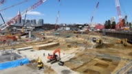Video footage taken on March 24 Japan shows work progressing on the new National Stadium that will serve as the main venue of the 2020 Tokyo Olympic...