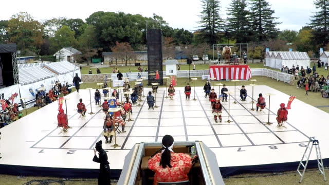 """Video footage taken on November 4Japan at a ground at Himeji Castle in Himeji Hyogo Prefecture shows a """"shogi"""" Japanese chess match being played on..."""
