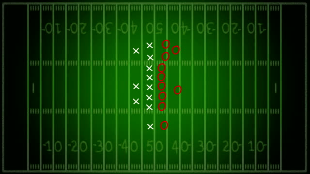 HD Video: Football Strategy over gridiron background
