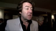 arrivals and interviews Jonathan Ross talking to press on red carpet accompanied by his wife Jane Goldman Jonathan Ross red carpet interview SOT On...