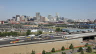 Video HD Interstate e centro città Skyline di Denver Colorado