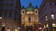 4 K Video-Church of St. Peter Wien Timelapse