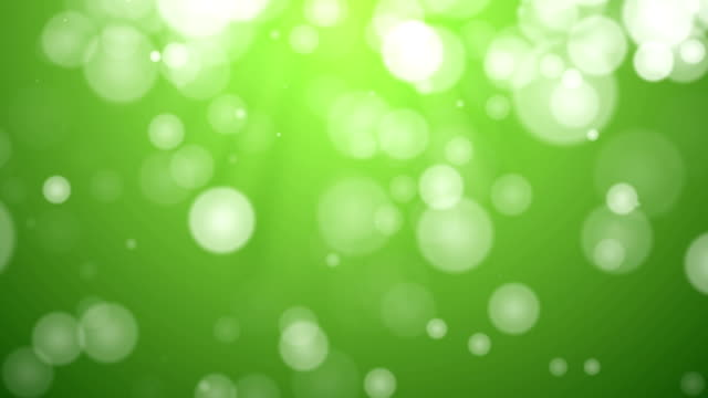 HD video: Moving Particles Loop - Green (HD 1080)