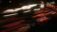 HD-video Nacht freeway traffic time lapse