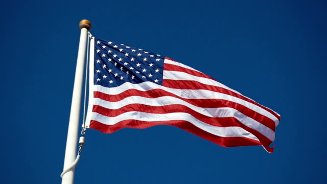 Video of American flag in slow motion