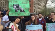 Video of Bernie Sanders at his rally in the South Bronx he came outside to speak to the overflow crowd of 10000 supporters Additional SOTs from the...