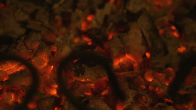 Video of embers in 4K