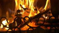 Video of fire flames in 4K