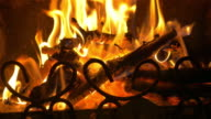 Video of fireplace in 4K