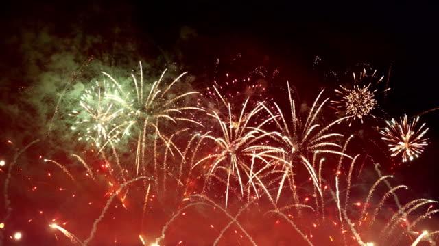 Video of fireworks in 4K