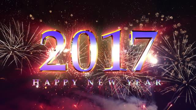 Video van gelukkig nieuw jaar vuurwerk in 4K
